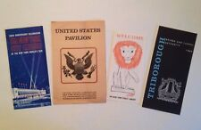 3 New York City and 1 United States Pamphlets from the 1964-65 NY World's Fair