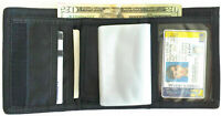 Tri-Fold Badge & ID Wallet Removable Badge Holder, Card Slots, Money Section