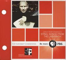 DVD - STING - Songs From The Labyrinth - PBS DVD DIGIPAK Like New (LN)