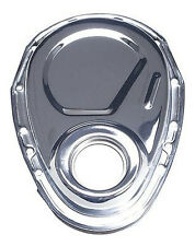 SBC Chrome Steel Timing Chain Cover Racing Power 4934