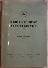 Mercedes OM 636 VI E Ersatzteilliste / Bildkatalog