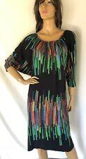 Nanso Dress batwing Multicolor Print M