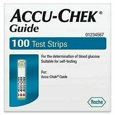 Accu-Chek Guide Diabetic Test Strips Qty. 100 EXP 9/30/2021 Sealed New Free Ship