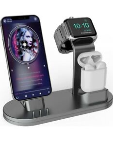 3 in 1 Charging Stand iwatch Stand, Charging Station Compatible with iWatch