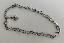 Ankle Bracelet - with heart accent New listing Silver Hearts Anklet, adjustable -