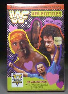 vtg 1991 WWF wrestling VALENTINES Cards mint sealed Hulk Hogan, Macho Man+