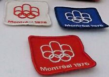 Original Montreal 1976 Olympic Patch set of 3., red, white and blue