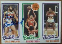 GREG BALLARD deceased 2016 signed autograph Topps Washington Bullets