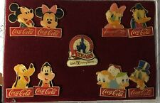 Disney World 15 Year Anniversary Coca Cola Vintage Pin Set Mickey & Friends