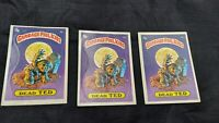 Lot of 3 1985 Garbage Pail Kids Dead Test Checlist