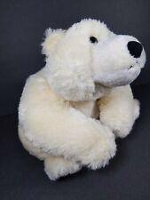 Aurora World Polar Bear Plush Realistic white cream teddy stuffed animal sitting
