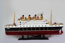 "Titanic Wooden Model Cruise Ship 25"""