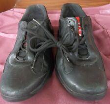 PRADA America's Cup Sneakers PS0906 Black Leather Mesh MEN'S SIZE 7.5