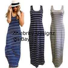 Cotton Blend Full-Length Casual Maxi Dresses for Women