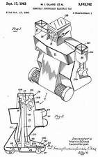 Robot Commando Marvin Glass 1960-63 copies of Patent scetches 12 page Document