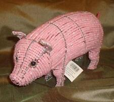 Beadworx Glass Beads Beaded Wire Pink Pig Retired NWT