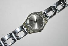 Vintage Swatch Watch LM-119 SILVER COBBLES Ladies 2001 Swiss Quartz Original