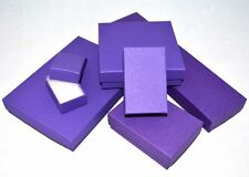 Purple 100% Recycled Jewelry Box Cotton Filled Beading Display 6 Assorted Sizes