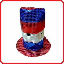 MAGICIAN CLOWN CIRCUS SEQUINED TOP HAT CARNIVAL-FIESTA-MARDI GRAS-COSTUME-PARTY