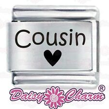 Niece Heart Engraved Charm in Silver Plate finish - fits Nomination Classic JhR60g