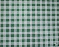 "2.2m/86"" green gingham wipe clean kitchen cover oilcloth vinyl TABLE CLOTH CO"