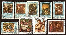 170 PANAMA  Tableaux sur la vie de Jésus. 9 timbres obliteres