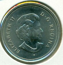 2004-P POPPY CANADA TWENTY-FIVE CENTS, CH. BRILLIANT UNCIRCULATED, GREAT PRICE!