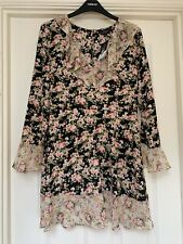 BNWT Topshop Petite Spring Summer  Floral Ruffle Dress Size 10 Vintage Style