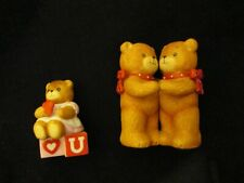 Lucy And & Me Bear I Love You U Heart and Blocks Riggs Lot of 2 Bears Set