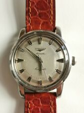 Vintage Longines Conquest Automatic steel 1957 19 as ref 9000 4