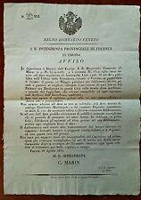 G512-LOMBARDO VENETO,VERONA, RESTAURO PALAZZO BEVILACQUA,INTEND. DI FINANZA,1832