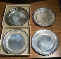 4 Wm ROGERS SILVER PLATE 6-inch DESSERT BREAD PLATES #988