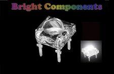 5 x White Piranha / Super Flux LED - 5mm Dome - UK - 1st CLASS POST