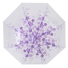 Transparent Clear Bubble Flower Rain Umbrella Parasol Photo Party Favor