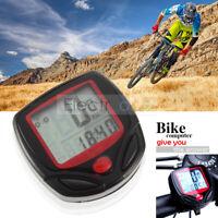 Bike Odometer Speed Waterproof Meter Bicycle Cycling LCD Computer Speedometer