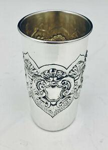 SOLID STERLING SILVER  KIDDUSH CUP GOBLET