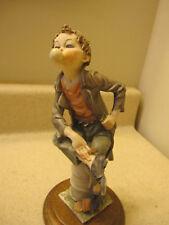 Giuseppe Armani Figurine Boy Blowing Bubble Capodimonte Italian