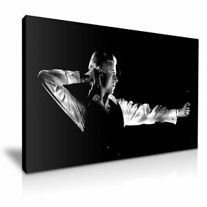David Bowie Archer pose Canvas Wall Art Picture Print 30x20 Inch Ready To Hang
