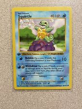 First Edition SQUIRTLE 63/102 Base Set ULTRA RARE Shadowless MINT/NM
