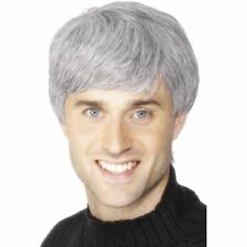 Men's Father Ted Schofield Old Costume Corporate Wig Grey Fancy Dress Grand Dad