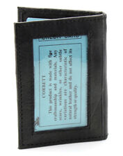 New Mens Slim Thin Bifold Leather ID Wallet Black Credit Card Window Holder Case