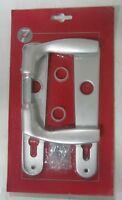 Maniglia x porta placca foro yale realizzato in alluminio colore argento 800 new