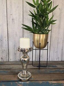 "Brand New Stylish Mercury Glass 9"" Candle Stick ""Ports of Call"" by Jeff Banks"