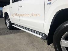 Volkswagen Amarok Dual Cab Side Steps Running Boards Aluminium 2010-2018+ (S6)