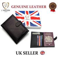 Genuine Leather Designer Travel Wallet Document Passport Cover Holder Gift Boxed