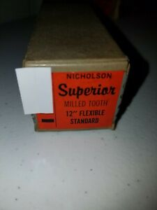 Qty 1 Vintage NOS Superior by Nicholson 12 in Flexible Milled Tooth File