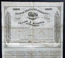 1853 Ohio: Dayton & Michigan Railroad Company - $1000 Bond
