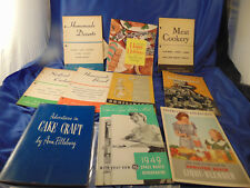 10 Vintage cook books breads cakes pies cookies meats seafood blender booklets
