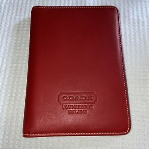 New COACH Leatherware Embossed Photo Book FS7698 Red Leather Holds 20 4x6 Pics