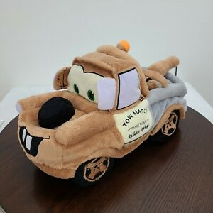 "Disney Pixar Cars Tow Mater Plush 13"" Soft Tow Truck Stuffed Car"